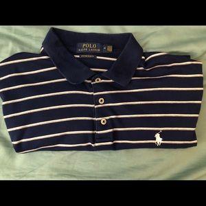 Navy stripped men's Ralph Lauren polo shirt